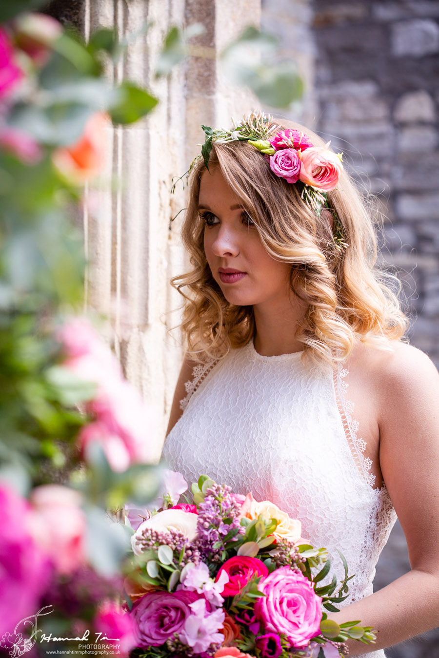 Fabulous spring colour for an Old Church Farm wedding! Photography credit Hannah Timm (12)