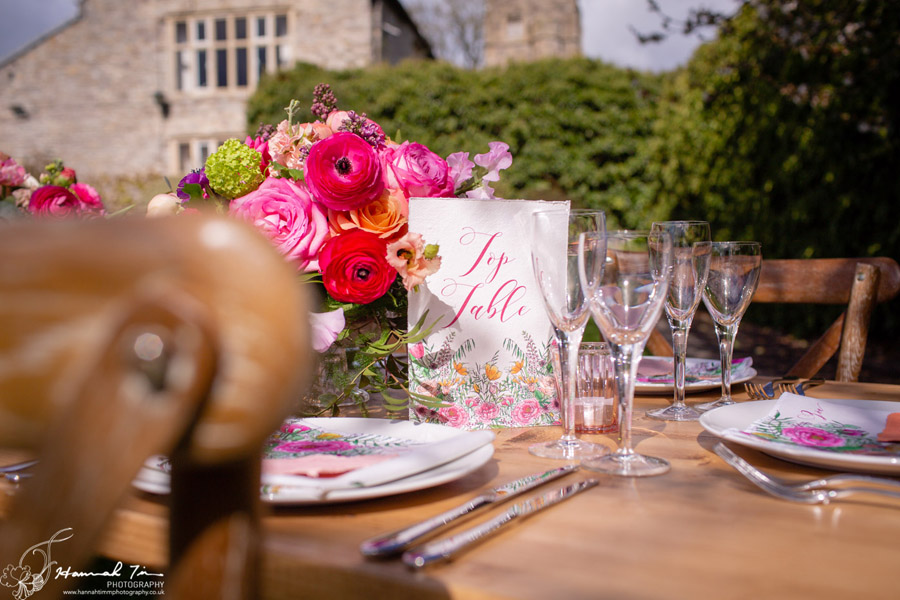 Fabulous spring colour for an Old Church Farm wedding! Photography credit Hannah Timm (15)