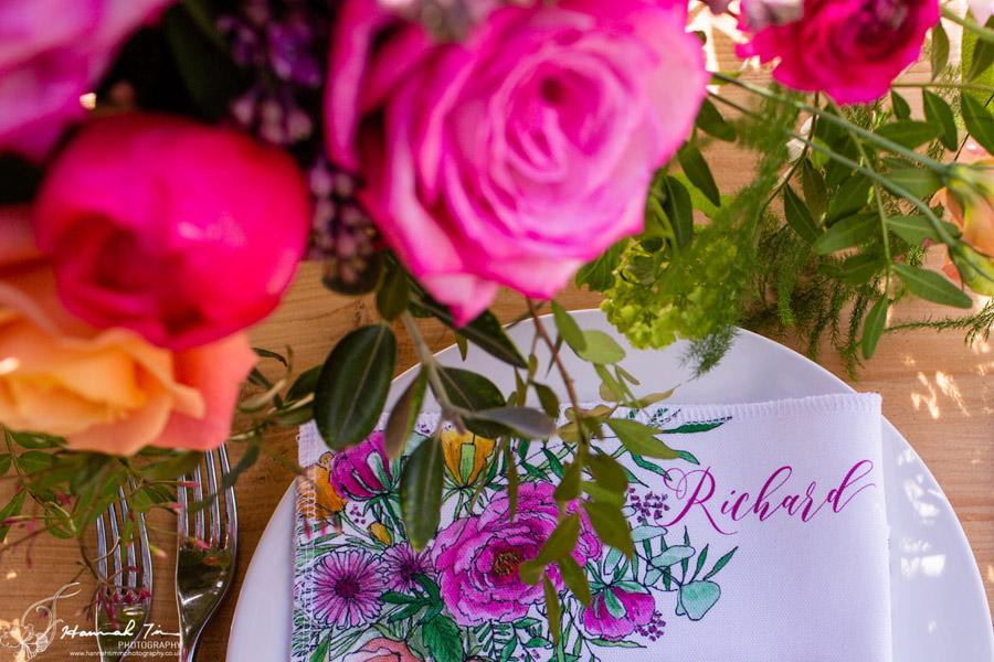 Fabulous spring colour for an Old Church Farm wedding! Photography credit Hannah Timm (17)
