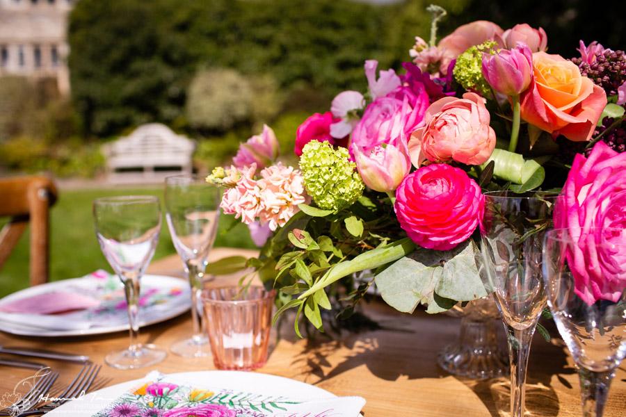 Fabulous spring colour for an Old Church Farm wedding! Photography credit Hannah Timm (18)