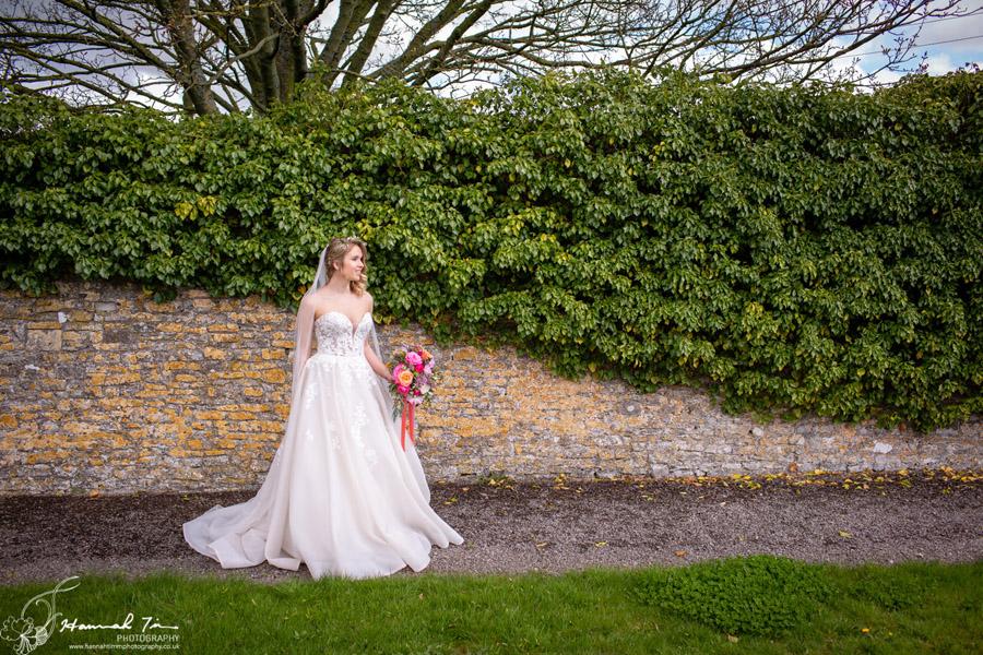 Fabulous spring colour for an Old Church Farm wedding! Photography credit Hannah Timm (22)