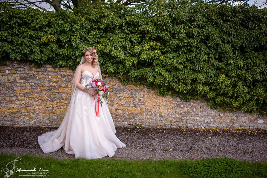 Fabulous spring colour for an Old Church Farm wedding! Photography credit Hannah Timm (23)