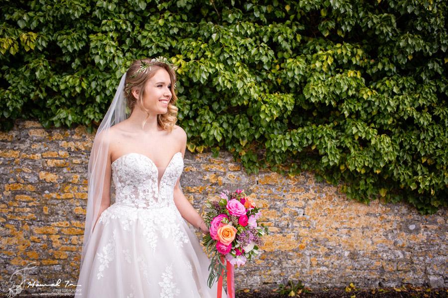 Fabulous spring colour for an Old Church Farm wedding! Photography credit Hannah Timm (24)