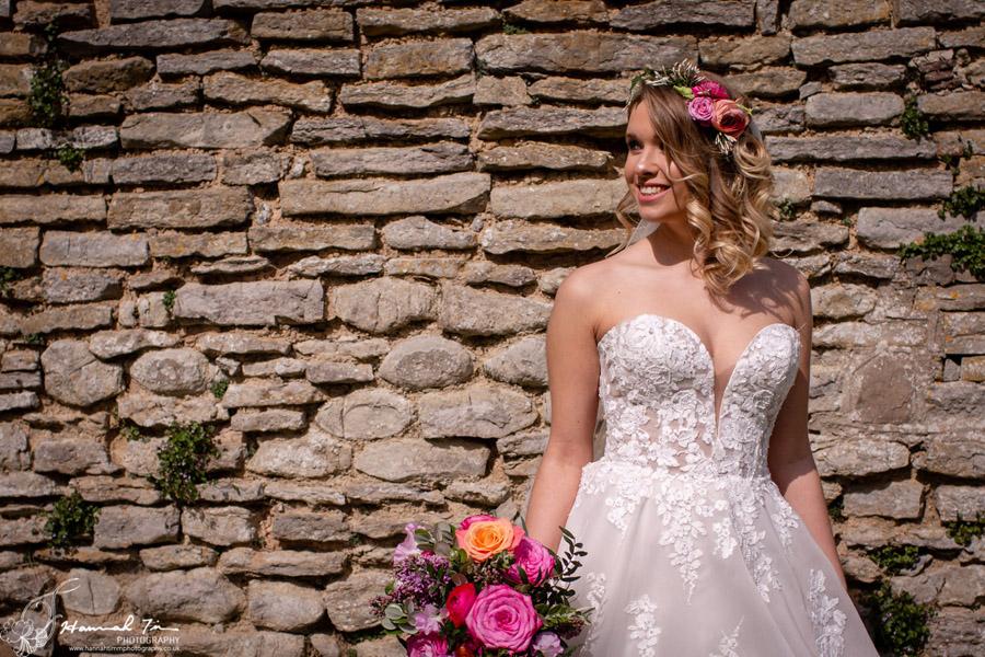 Fabulous spring colour for an Old Church Farm wedding! Photography credit Hannah Timm (30)