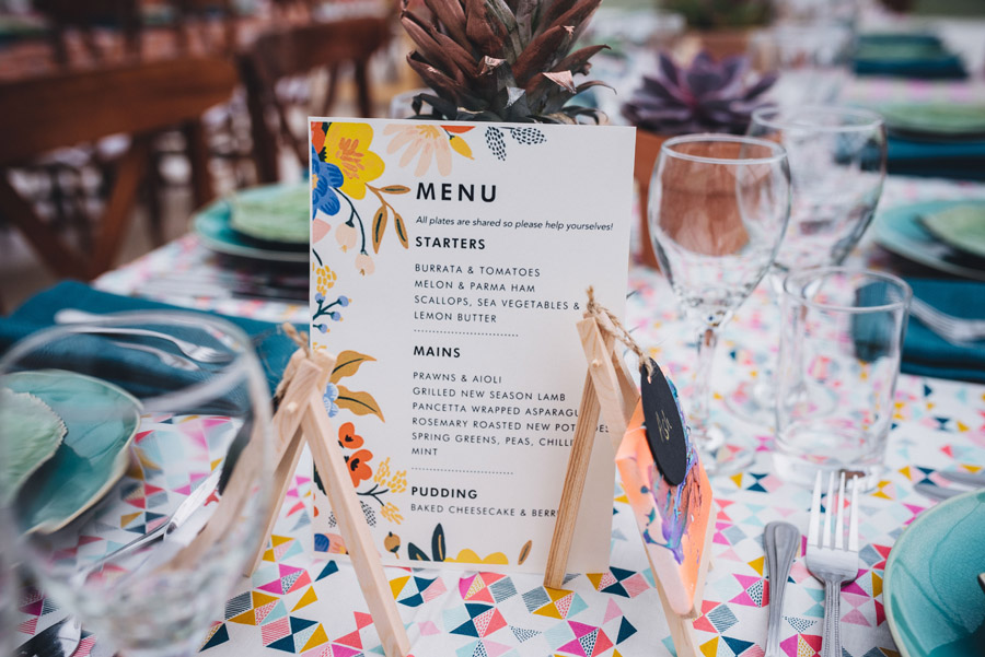 Lily & Gareth's crazily colourful, beautiful and eclectic marquee wedding, with Benessamy Weddings and Marta May Photography (1)