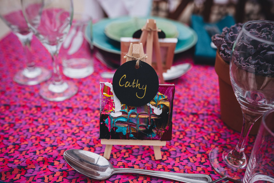Lily & Gareth's crazily colourful, beautiful and eclectic marquee wedding, with Benessamy Weddings and Marta May Photography (4)