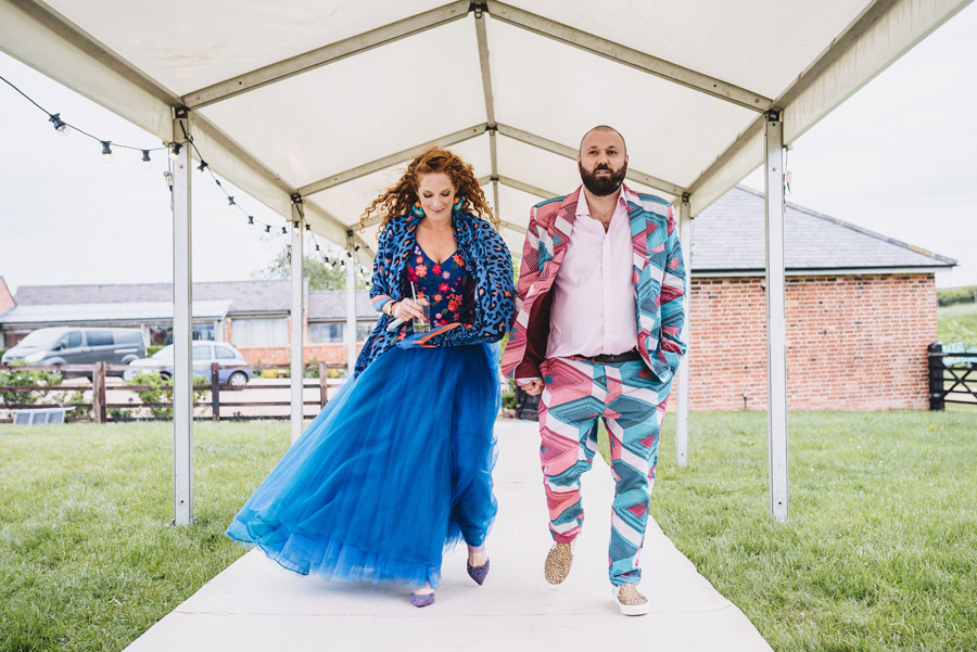 Lily & Gareth's crazily colourful, beautiful and eclectic marquee wedding, with Benessamy Weddings and Marta May Photography (21)