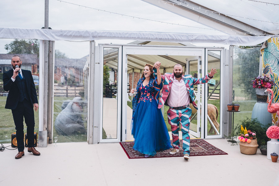 Lily & Gareth's crazily colourful, beautiful and eclectic marquee wedding, with Benessamy Weddings and Marta May Photography (22)
