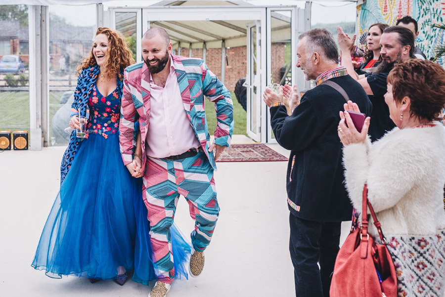 Lily & Gareth's crazily colourful, beautiful and eclectic marquee wedding, with Benessamy Weddings and Marta May Photography (23)