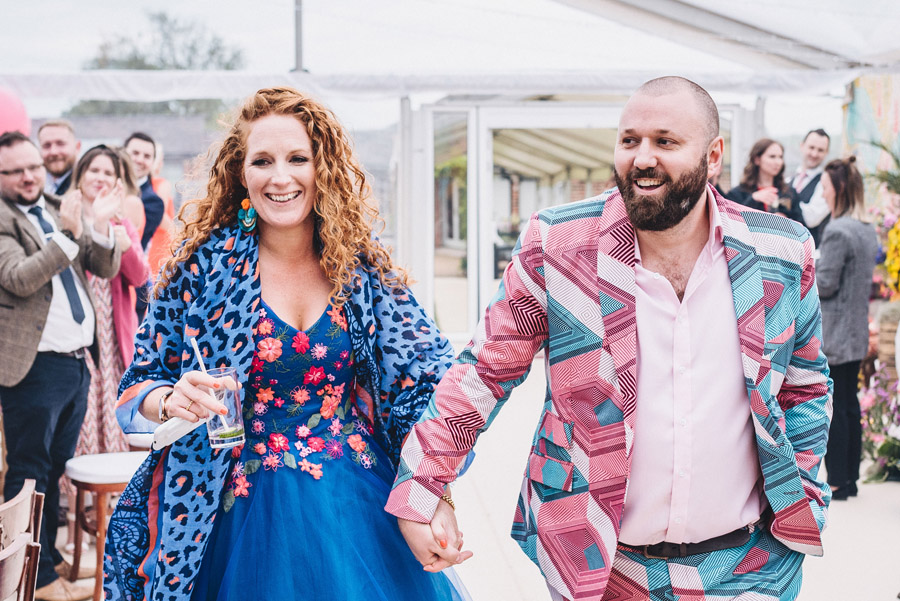 Lily & Gareth's crazily colourful, beautiful and eclectic marquee wedding, with Benessamy Weddings and Marta May Photography (24)