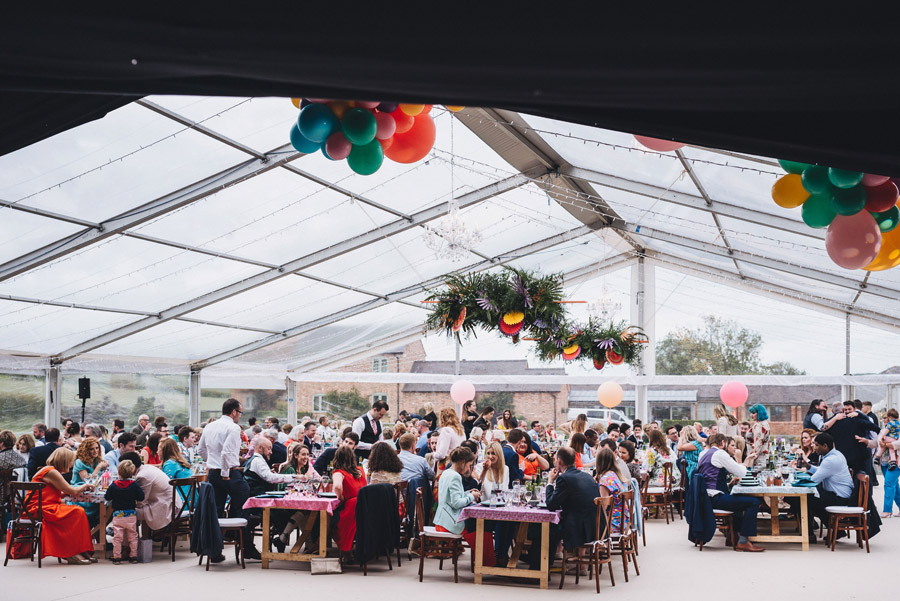 Lily & Gareth's crazily colourful, beautiful and eclectic marquee wedding, with Benessamy Weddings and Marta May Photography (25)