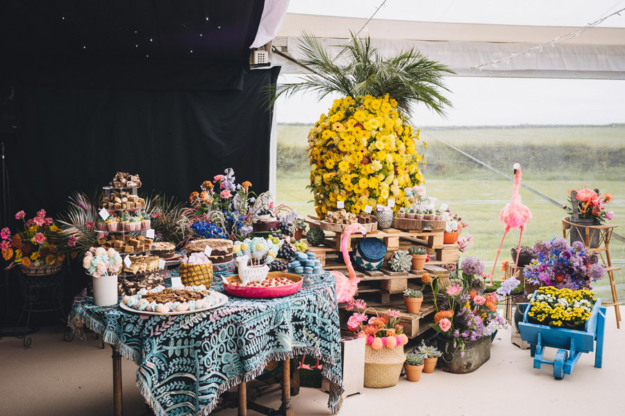 Lily & Gareth's crazily colourful, beautiful and eclectic marquee wedding, with Benessamy Weddings and Marta May Photography (33)