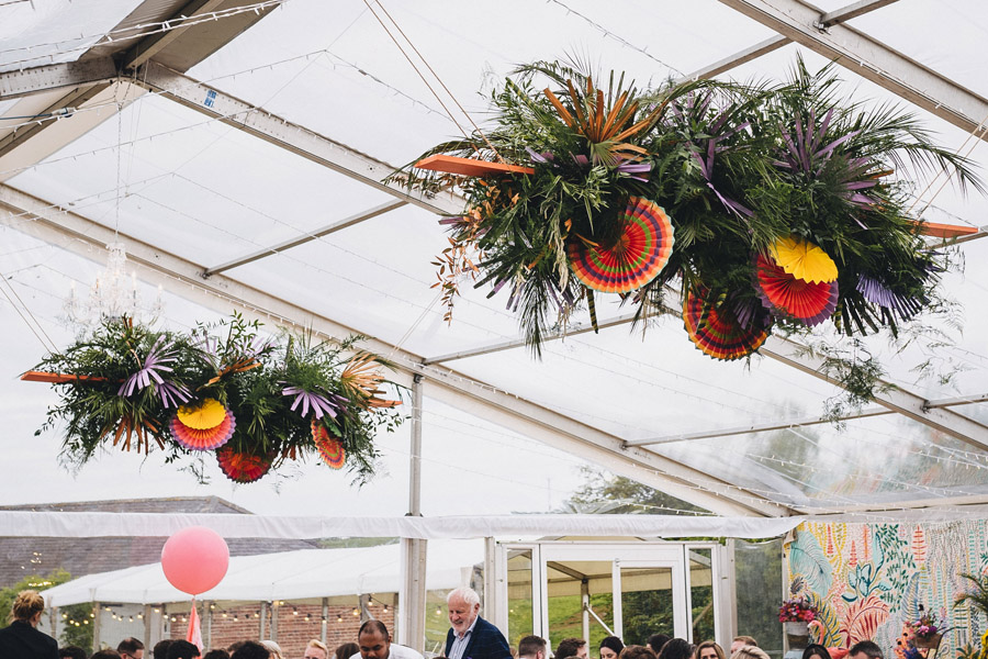Lily & Gareth's crazily colourful, beautiful and eclectic marquee wedding, with Benessamy Weddings and Marta May Photography (35)