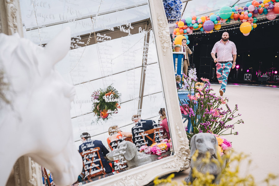 Lily & Gareth's crazily colourful, beautiful and eclectic marquee wedding, with Benessamy Weddings and Marta May Photography (36)