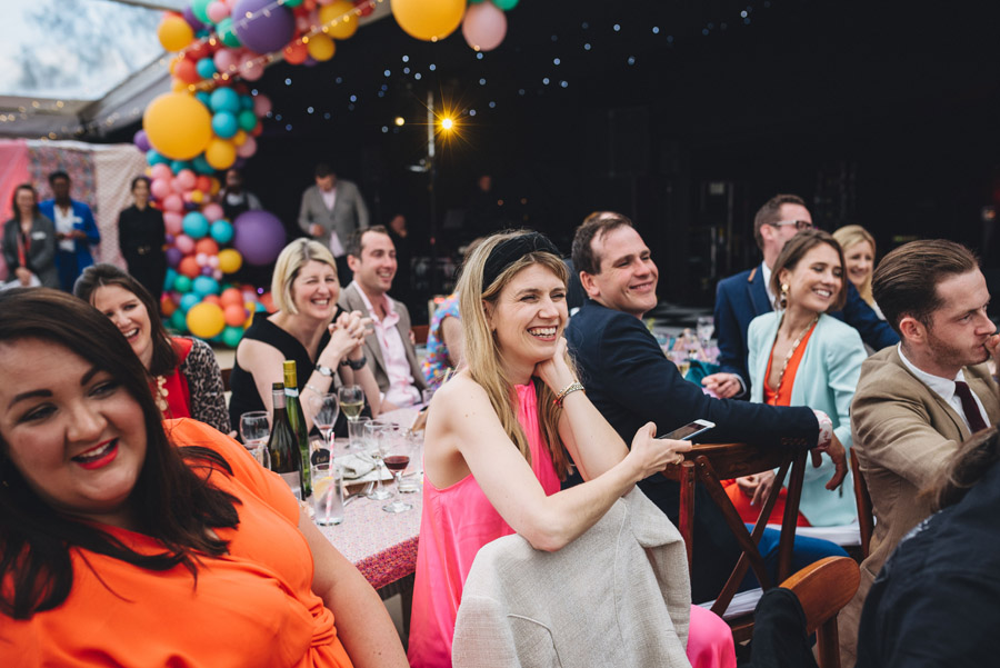 Lily & Gareth's crazily colourful, beautiful and eclectic marquee wedding, with Benessamy Weddings and Marta May Photography (40)