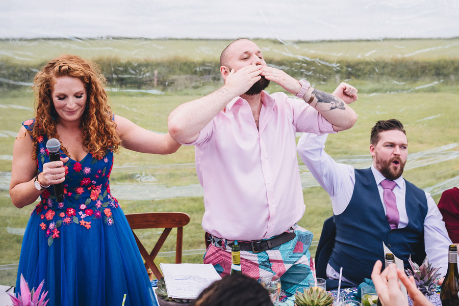Lily & Gareth's crazily colourful, beautiful and eclectic marquee wedding, with Benessamy Weddings and Marta May Photography (42)