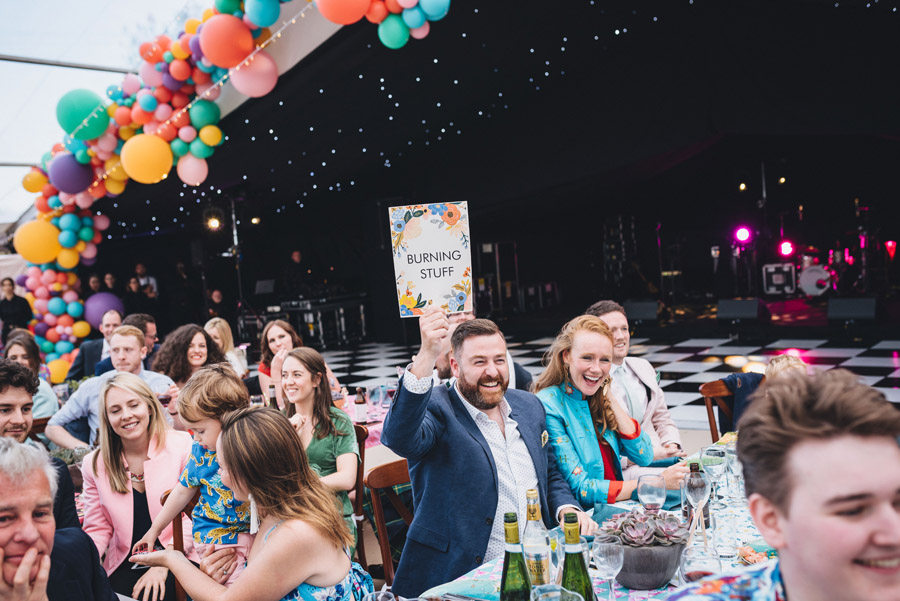 Lily & Gareth's crazily colourful, beautiful and eclectic marquee wedding, with Benessamy Weddings and Marta May Photography (43)