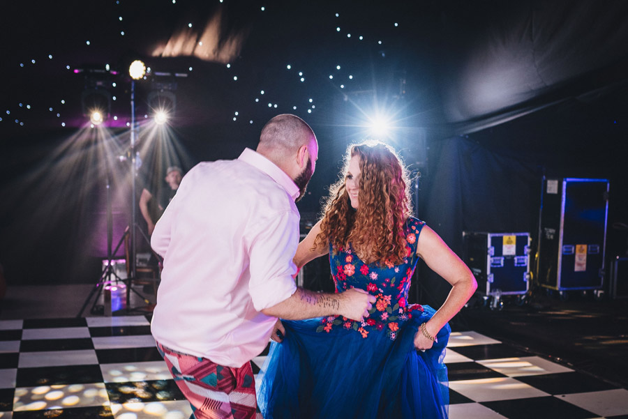 Lily & Gareth's crazily colourful, beautiful and eclectic marquee wedding, with Benessamy Weddings and Marta May Photography (49)