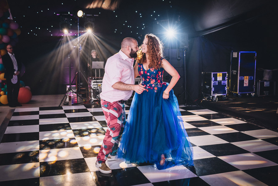 Lily & Gareth's crazily colourful, beautiful and eclectic marquee wedding, with Benessamy Weddings and Marta May Photography (50)