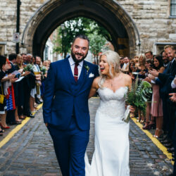 Ally & James's chic and modern museum-to-pub wedding, with Simon Biffen Photography