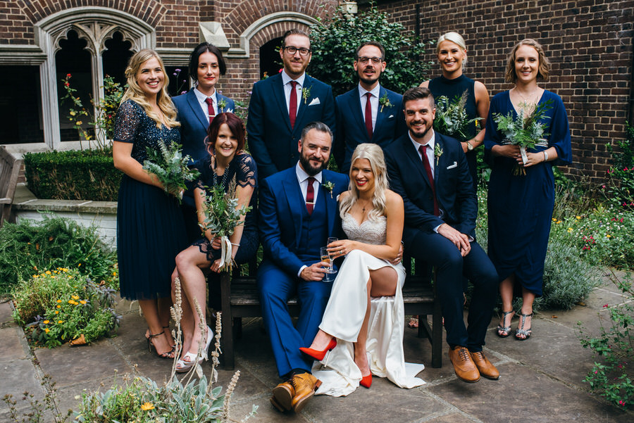Ally & James's chic and modern museum-to-pub wedding, with Simon Biffen Photography (15)