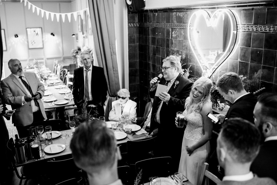 Ally & James's chic and modern museum-to-pub wedding, with Simon Biffen Photography (30)