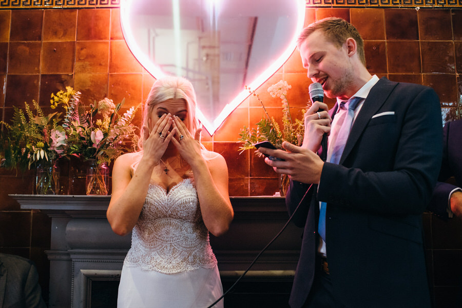 Ally & James's chic and modern museum-to-pub wedding, with Simon Biffen Photography (31)