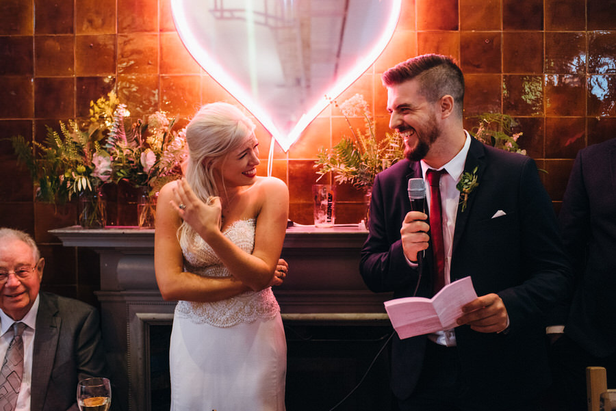 Ally & James's chic and modern museum-to-pub wedding, with Simon Biffen Photography (34)