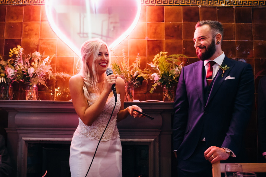 Ally & James's chic and modern museum-to-pub wedding, with Simon Biffen Photography (38)