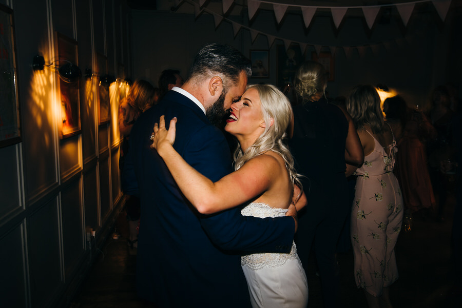 Ally & James's chic and modern museum-to-pub wedding, with Simon Biffen Photography (43)