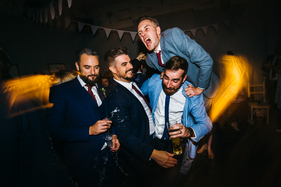 Ally & James's chic and modern museum-to-pub wedding, with Simon Biffen Photography (45)