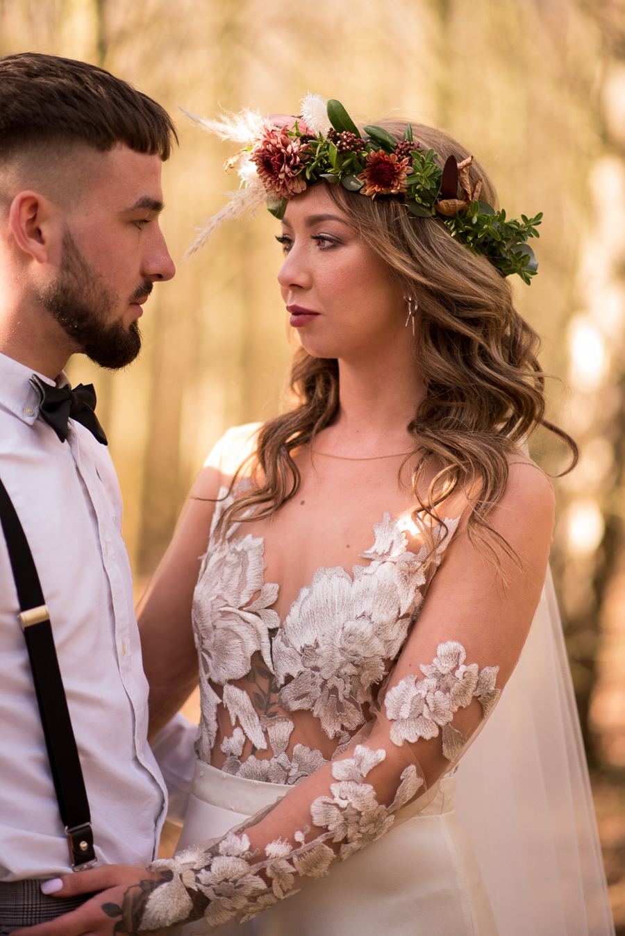 See you at Sunset - a warm autumnal wedding photoshoot with Nicola Belson Photography (18)