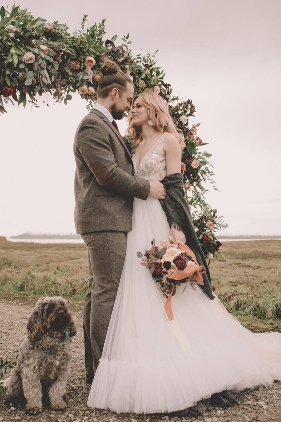 We Found Love! Natural, modern wedding inspiration from The Ferry House with images by Kerry Ann Duffy (38)
