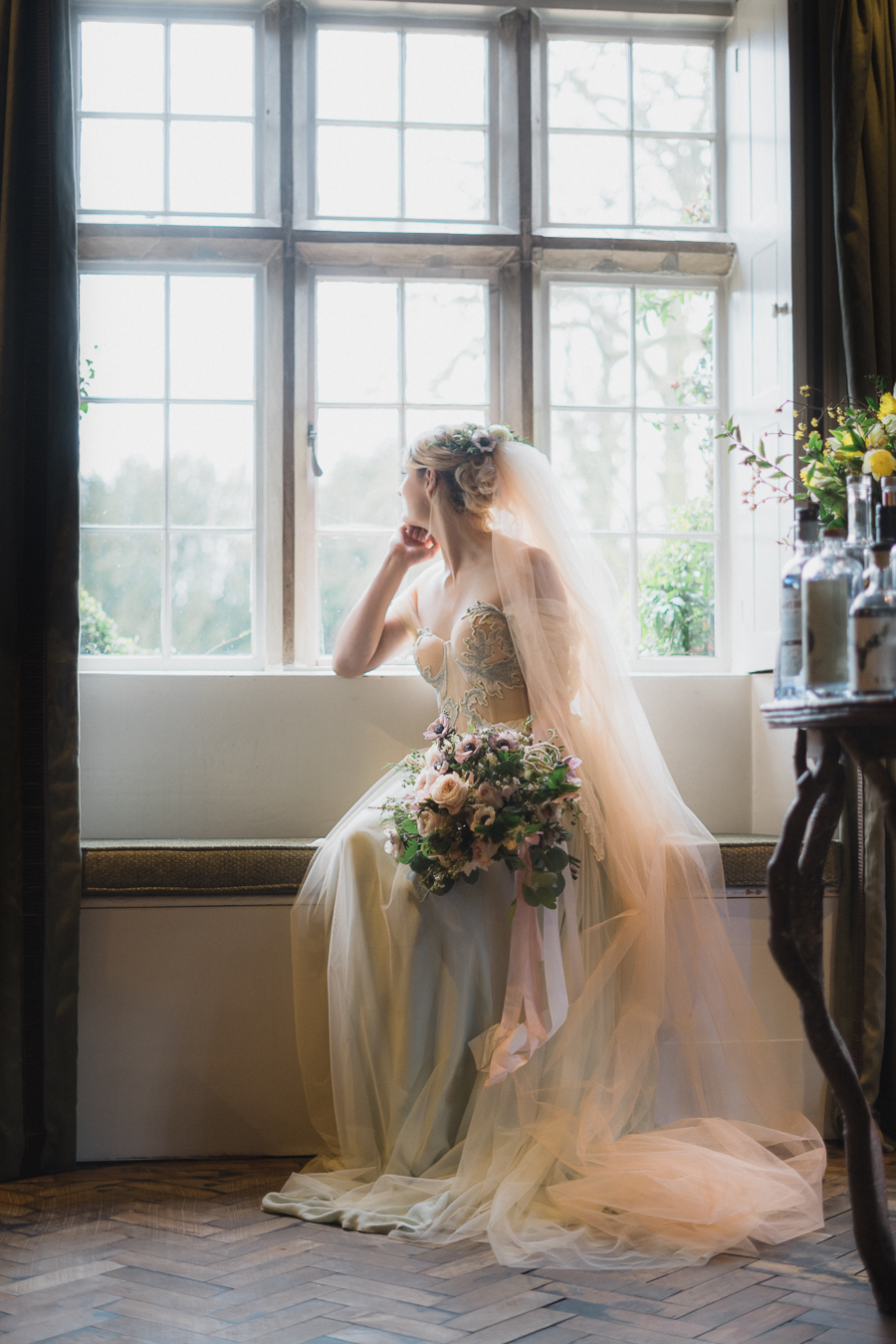 Candyfloss romance from the secret garden at Barnsley House, image credit Red Maple Photography (2)