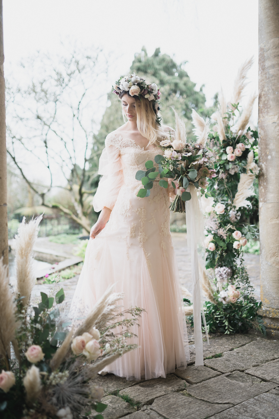 Candyfloss romance from the secret garden at Barnsley House, image credit Red Maple Photography (29)