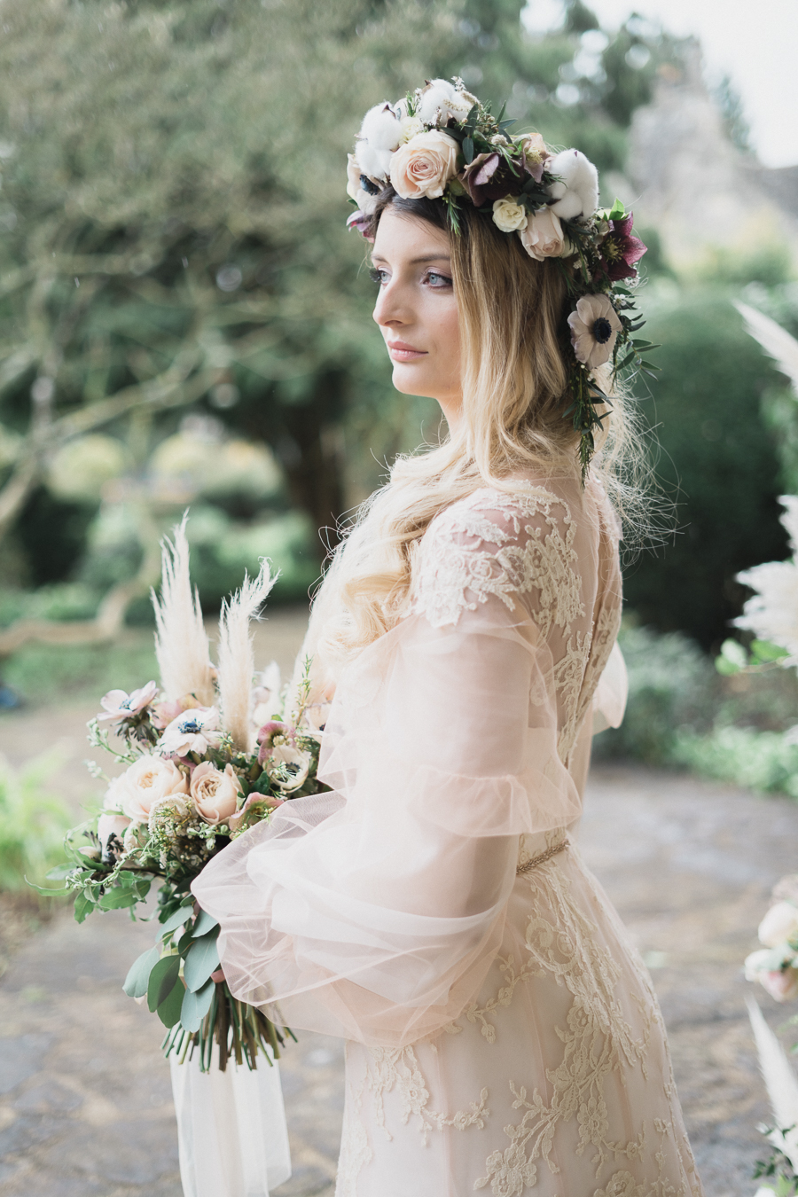 Candyfloss romance from the secret garden at Barnsley House, image credit Red Maple Photography (30)