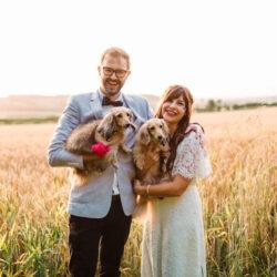 Dan & Alicia's gloriously non traditional festival wedding, with Rachel Burt Photography