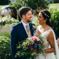 Jonny & Soma's elegant rustic Heaton House Farm wedding, with Simon Biffen Photography