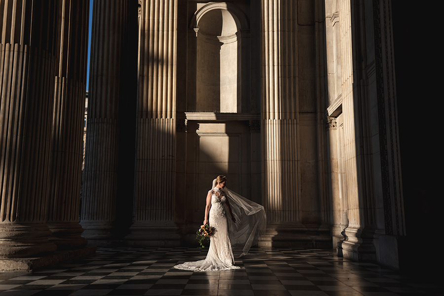 Real wedding at St Pauls Cathedral, captured by Rik Pennington Photography