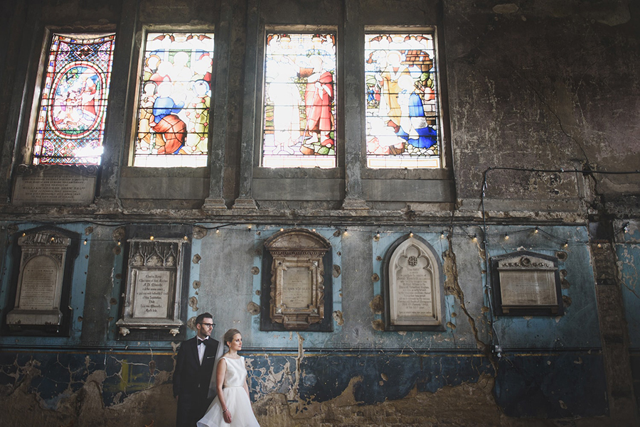 Real wedding at The Asylum Chapel captured by Rik Pennington Photography