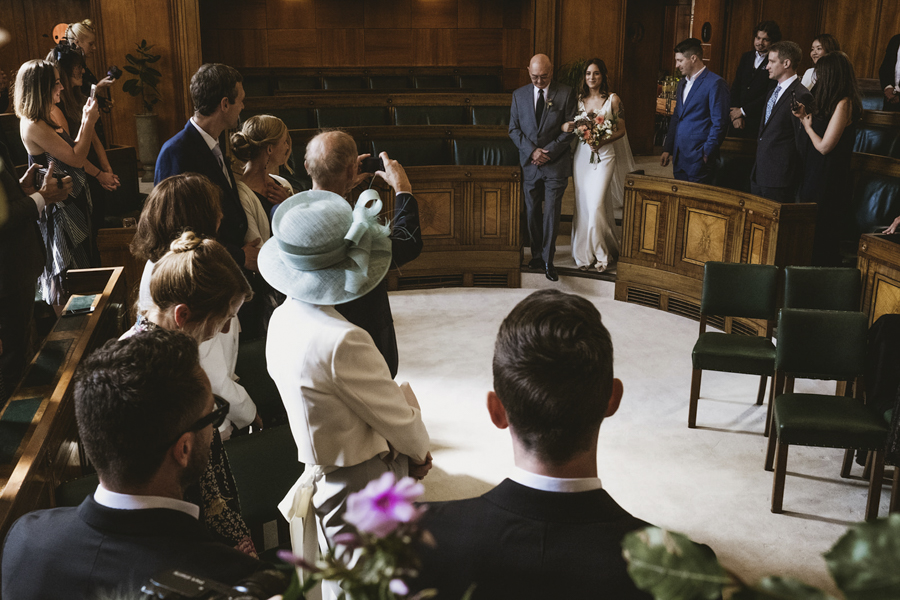 Michelle & Stephen's relaxed modern wedding at London's Town Hall Hotel, with York Place Studios (11)