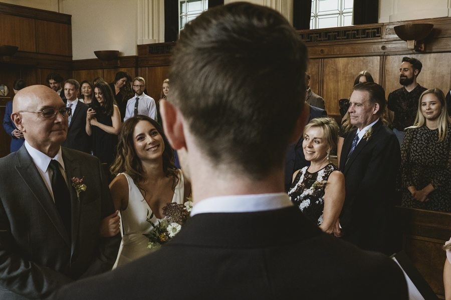 Michelle & Stephen's relaxed modern wedding at London's Town Hall Hotel, with York Place Studios (12)