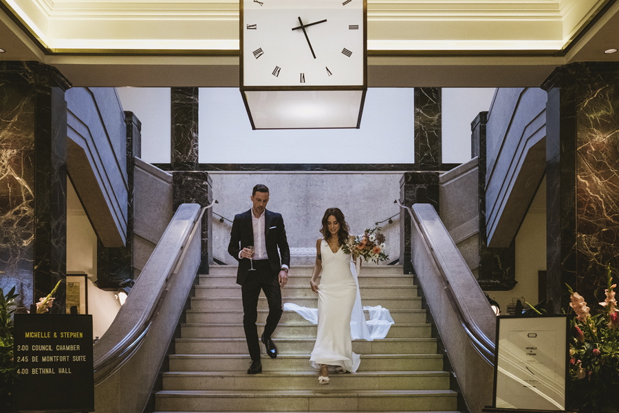 Michelle & Stephen's relaxed modern wedding at London's Town Hall Hotel, with York Place Studios (20)