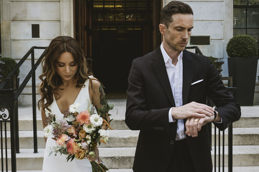 Michelle & Stephen's relaxed modern wedding at London's Town Hall Hotel, with York Place Studios (25)