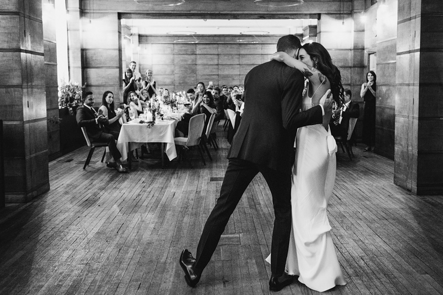 Michelle & Stephen's relaxed modern wedding at London's Town Hall Hotel, with York Place Studios (43)