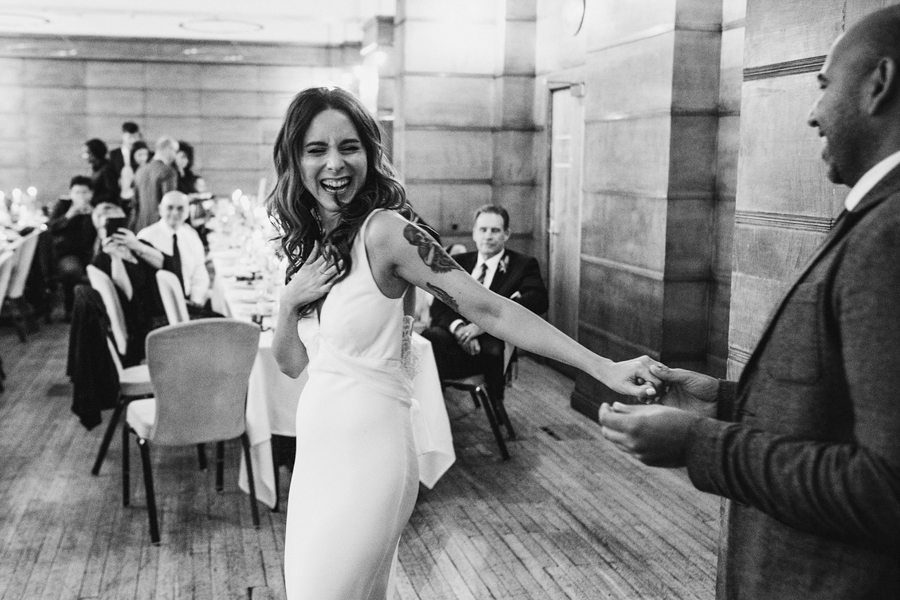 Michelle & Stephen's relaxed modern wedding at London's Town Hall Hotel, with York Place Studios (44)