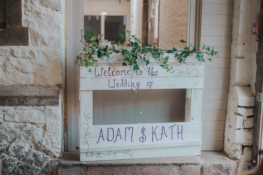 Kath & Adam's creative, DIY wedding at Wyresdale park, with Love Gets Sweeter and Claire Basiuk Photography (9)