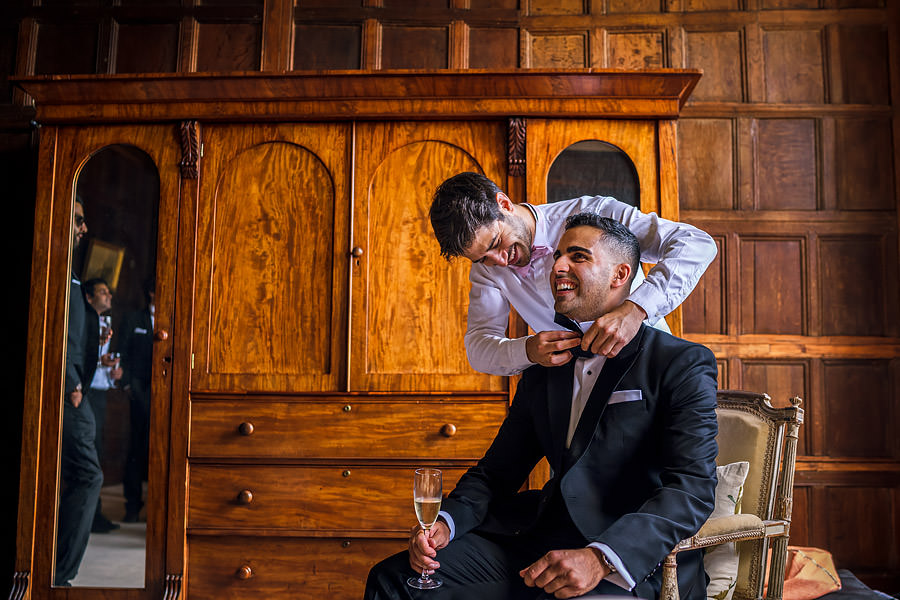 Shayan & Amo's elegant Elmore Court wedding and vibrant Indian reception, with Dan Morris Photography (4)