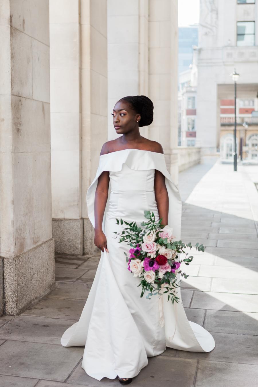 Breathtakingly beautiful - diversity wins in this stunning RSA London wedding editorial! (18)
