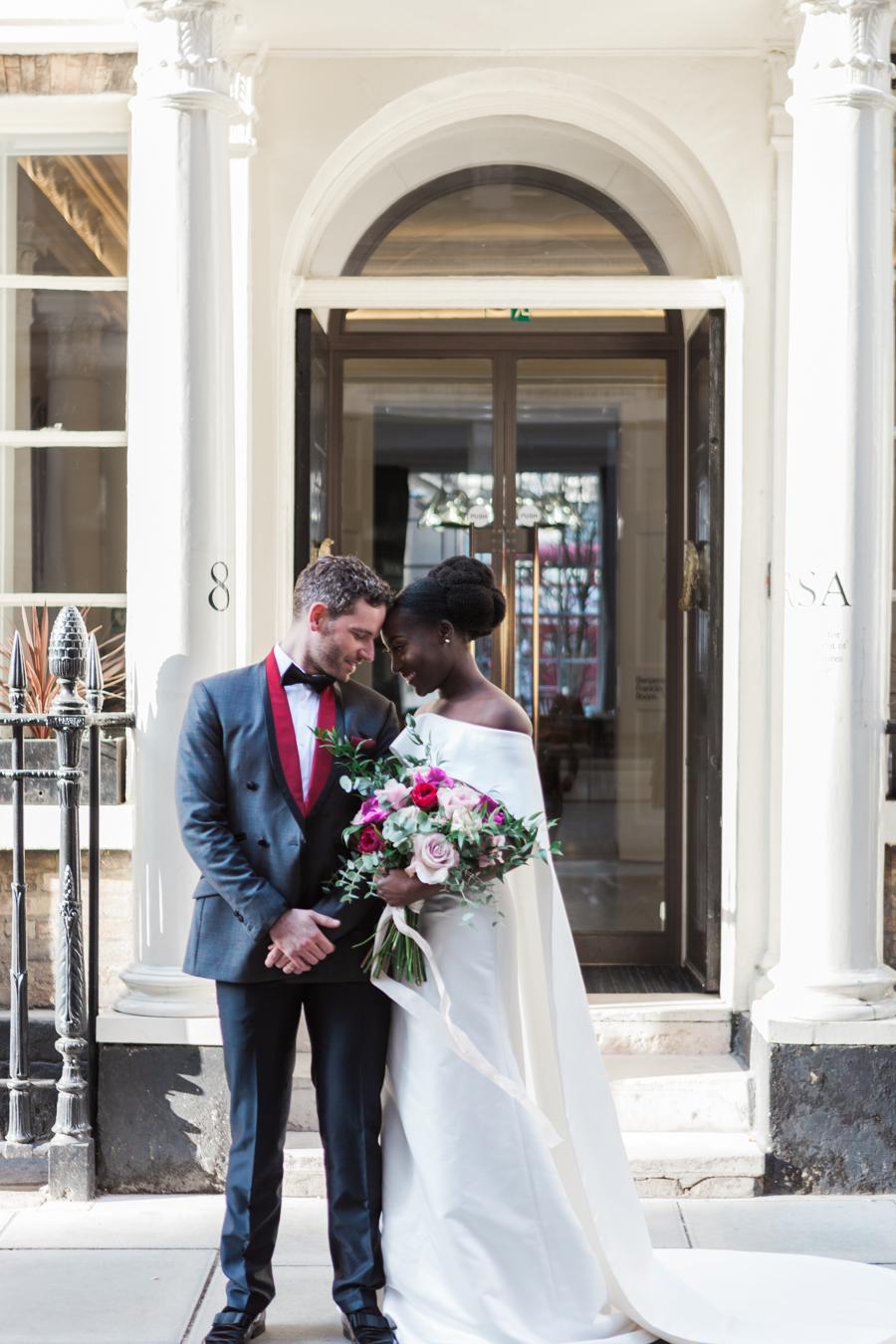 Breathtakingly beautiful - diversity wins in this stunning RSA London wedding editorial! (13)